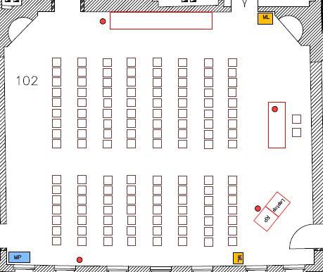 Sitzplan Großer Sitzungssaal 102