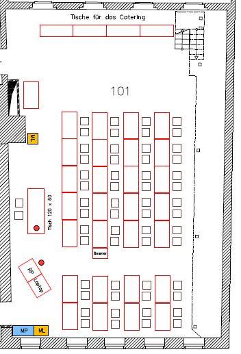 Sitzplan Kl. Sitzungssaal 101